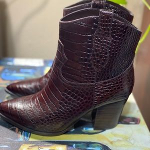 Leather Western Booties